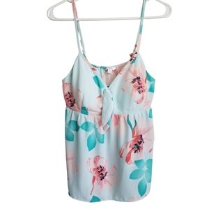 CANDIES / Blue & Pink Floral Camisole